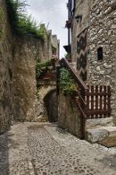 Typical Malcesine cobbled street