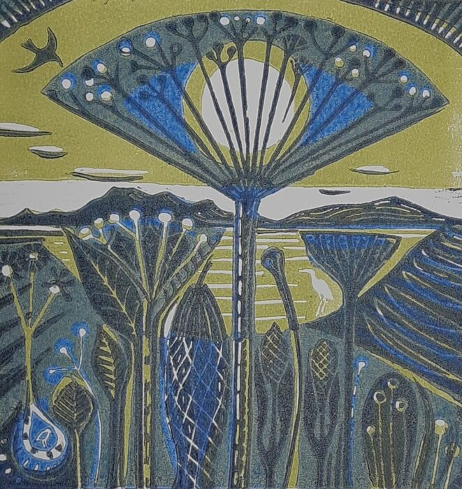 Seedheads by the Coast (blue)