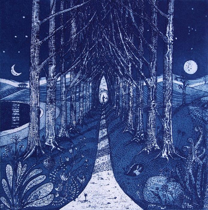 Blue Neoromantic Card