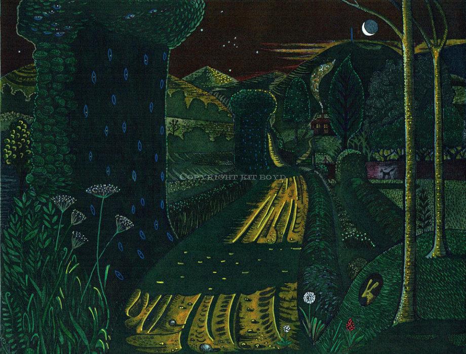 Night on the Lane (Sundown)