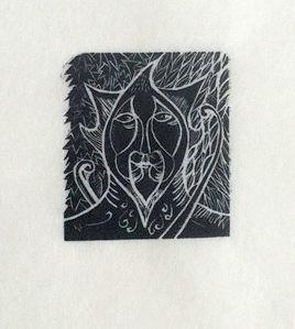 Green Man Wood Engraving