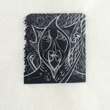 Green Man Wood Engraving