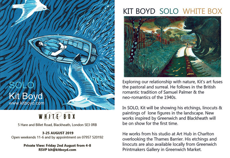Solo Exhibition Invitation at White Box