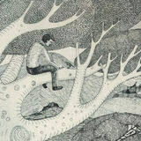 The Tree Climber (etching)