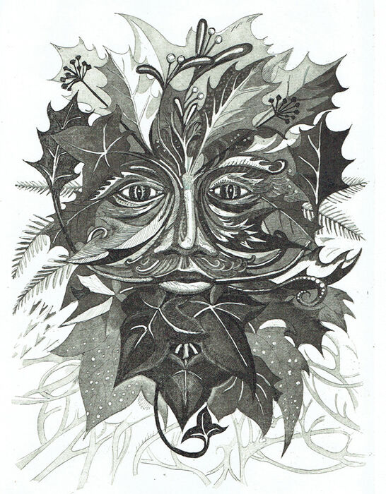 Winter Green Man (Black)