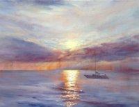Leaving Scarborough at Sunrise - Canvas Print