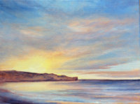Sandsend Sunset Oil on canvas