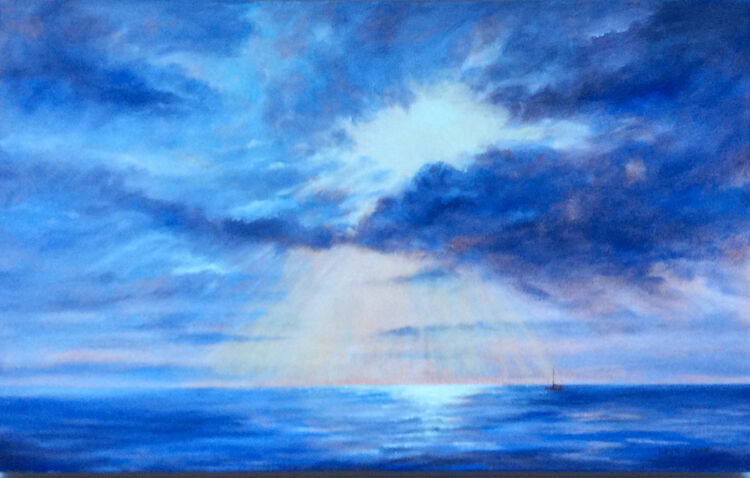 Painting A Shining Morning oil on canvas