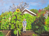 The Artist's Father With Prize Sunflower