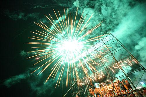 firework over platform
