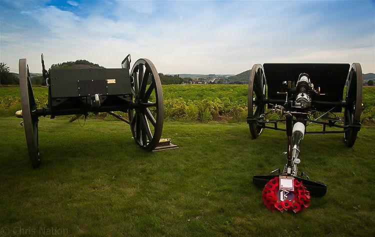 Bray 100. 3. E Battery RHA. Gun, limber and wreath. Peronne BE. NR20