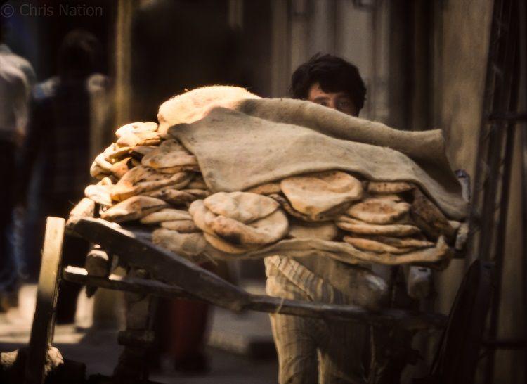 Bread delivery. Alexandria. Egypt. NR35-