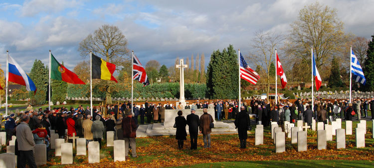 11/11/2008. 90th Anniversary of The Armistice. Mons. BE