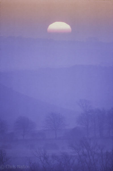Dawn. Marlborough Downs. Wiltshire. ENG
