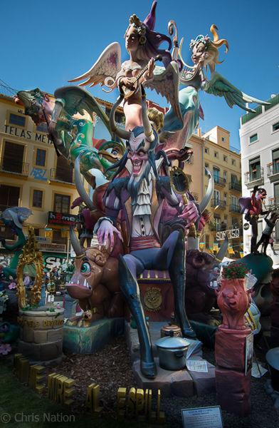 Fiesta of Las Fallas 2019. Valencia. Spain