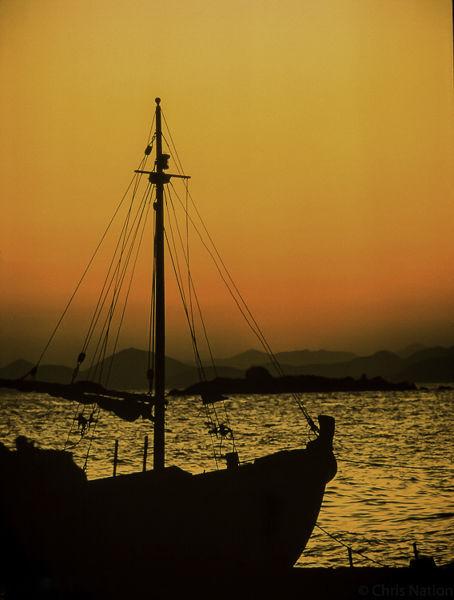 Fishing boat. Hydra. Greece