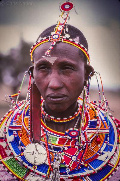 Masai woman. Nairobi National Park. Kenya