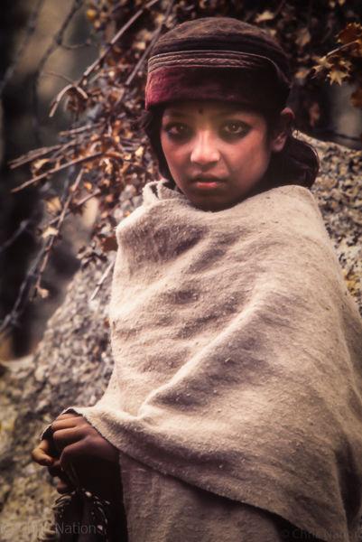 Village girl. Purbani. Himachal Pradesh. India