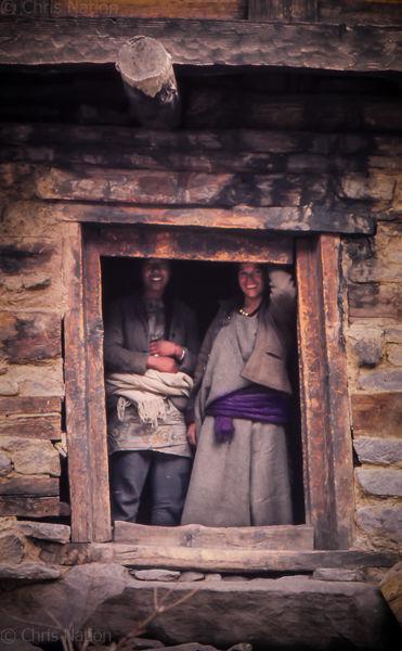 Village couple. Purbani. Himachal Pradesh. India.