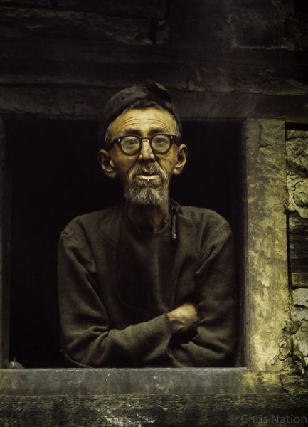 Old villager. Himachal Pradesh. India