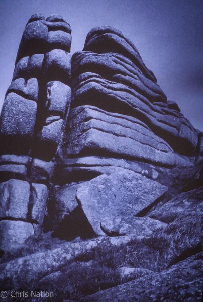 Rock formation. Dartmoor. ENG