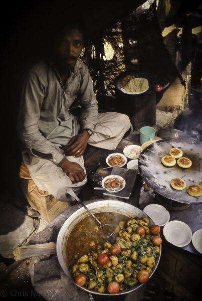 Street food stall. Rampur. Himachal Pradesh. India