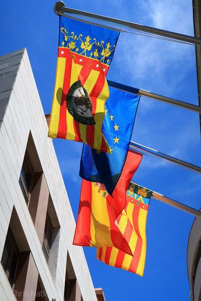 Spanish Flags. Valencia. SP