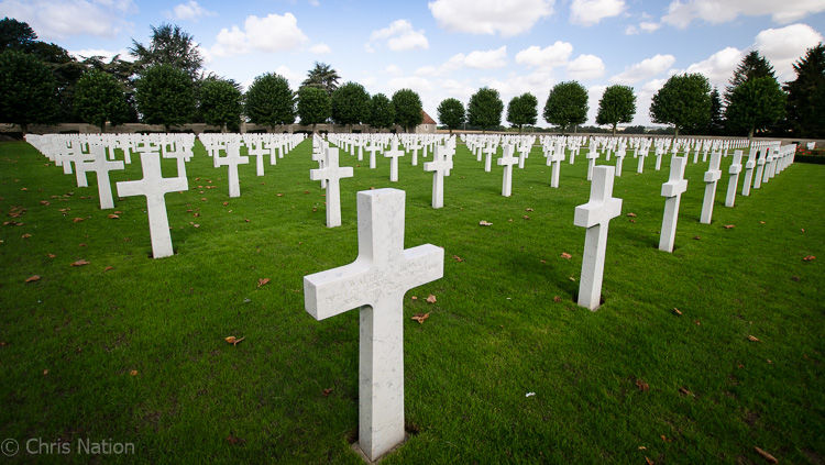 American cemetary for the fallen on the Somme. Bony. FR
