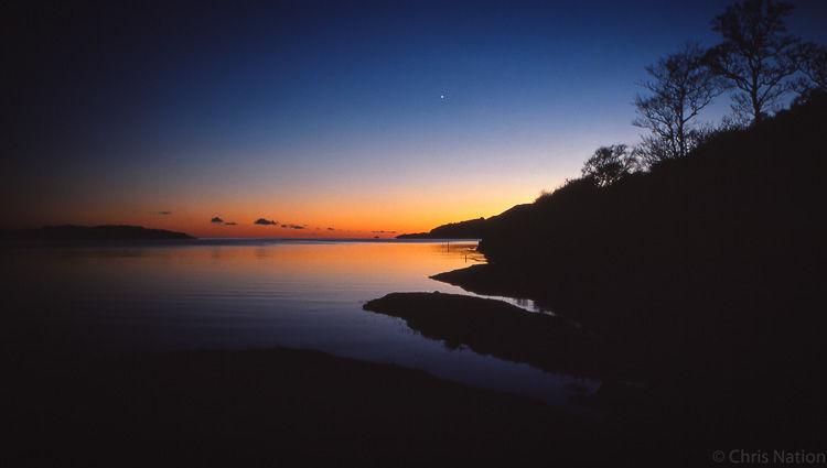 Venus over Ardlussa. Islay. Scotland-