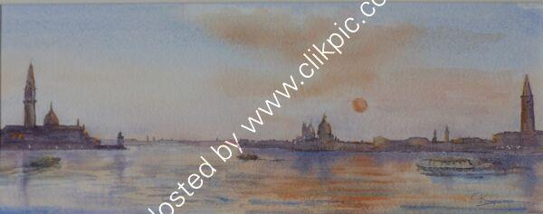Autumn Sunset over Venice Lagoon