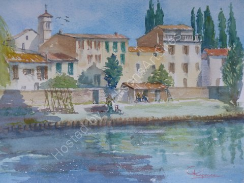 Bevagna village by the River Timia