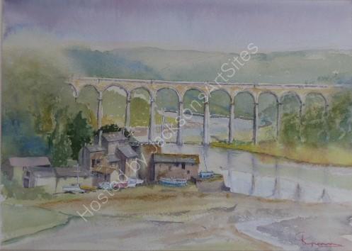 Brunels Great Western Railway viaduct St Germans Cornwall