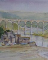 Brunels Great Western Railway viaduct St Germans Cornwall
