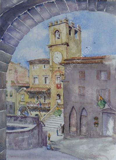 Cortona Arch to Palazzo Comunale