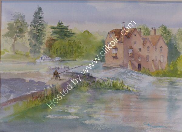 Cropthorne Mill and Fladbury Weir Worcestershire