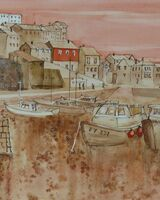 Dawn at Mevagissey Harbour Cornwall