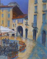 Evening meal in Piazza Anfiteatro Lucca