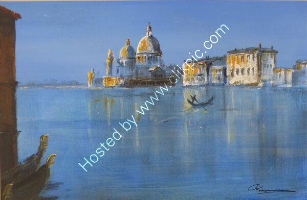 Gondola on Venice Lagoon