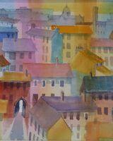 Italian Village Abstract