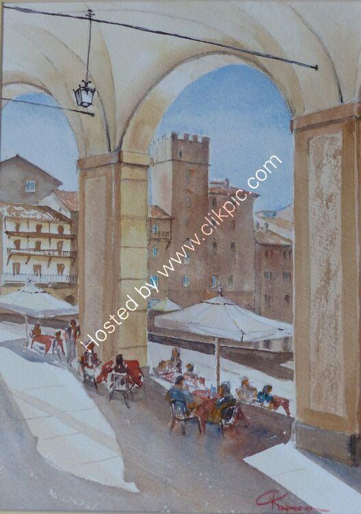 Lunch time In Piazza Grande Arezzo