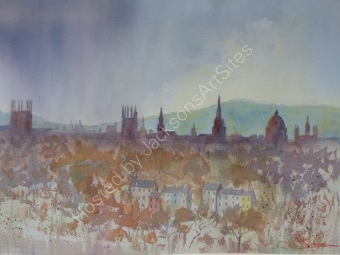 Oxford Skyline at Dusk
