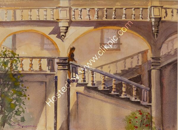 Palazzo Pfanner, Grand Staircase, Lucca