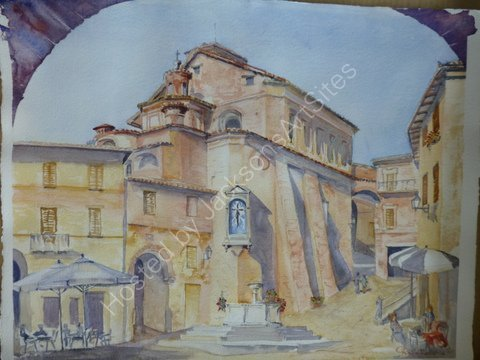 Piazza Umberto I, the main square of Panicale,