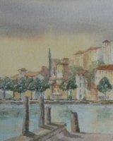 Passignano on east shore Lago Trasimeno