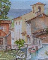 Rasiglia village with stream