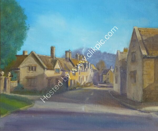 Stanton Village Gloucestershire (oil)