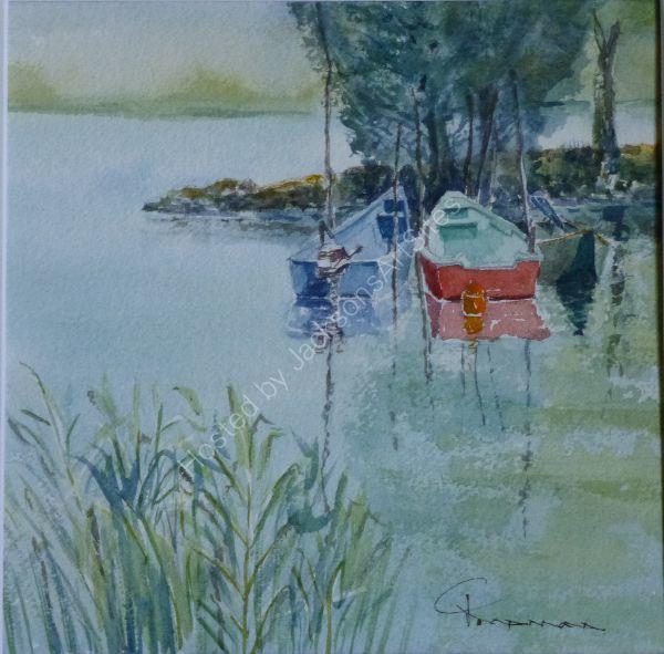 Torricello Fishing Boats on Lago Trasimeno SOLD