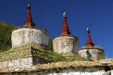 3 Chortens Reting monastery