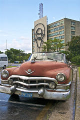 Old 50s car in the Place de la Revolucion