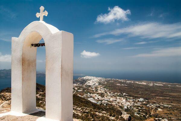 Oia view from church Santorini